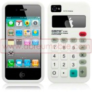 "BOLSA / CAPA SILICONE ""CALCULADORA"" PARA APPLE IPHONE 4 / 4S BRANCA"