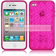 BOLSA / CAPA SILICONE GEL DIAMANTES PARA APPLE IPHONE 4 / 4S ROSA