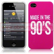 "BOLSA / CAPA SILICONE GEL ""MADE IN THE 90'S"" PARA APPLE IPHONE 4 / 4S ROSA"
