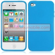 BOLSA / CAPA SILICONE GEL PARA APPLE IPHONE 4 / 4S AZUL OPACA