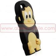 """CAPA SILICONE 3D """"MACACO"""" PARA APPLE IPHONE SE / 5s / 5 PRETA"""