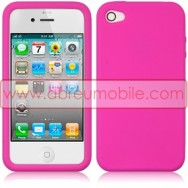 BOLSA / CAPA SILICONE PARA APPLE IPHONE 4 / 4S ROSA