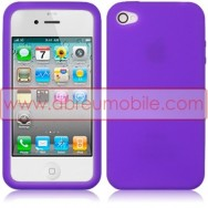 BOLSA / CAPA SILICONE GEL PARA APPLE IPHONE 4 / 4S ROXA (VIOLETA) OPACA