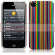 "BOLSA / CAPA SILICONE GEL ""MULTI-COLORIDO"" PARA APPLE IPHONE 4 / 4S"