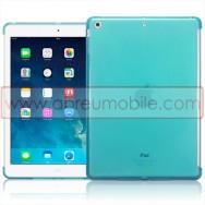 Bolsa / Capa Silicone Gel Para APPLE IPAD AIR / IPAD 5 Azul Transparente (Compativel c/ Smart Cover)