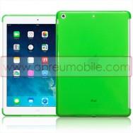 Bolsa / Capa Silicone Gel Para APPLE IPAD AIR / IPAD 5 Verde Transparente (Compativel c/ Smart Cover)
