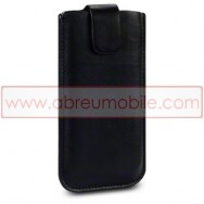 Bolsa / Capa Pele Sintetica Para APPLE IPHONE SE / 5s / 5 Preta