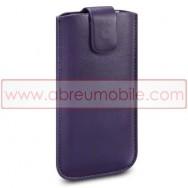 Bolsa / Capa Pele Sintetica Para APPLE IPHONE SE / 5s / 5 Roxa