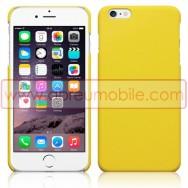"""Bolsa / Capa Rigida Traseira Hibrida (Plastico C/Revestimento Fino em Silicone) Para APPLE IPHONE 6 PLUS / 6s PLUS - 5.5"""" Amarela Opaca"""