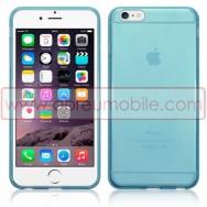 """Bolsa / Capa Silicone Gel Para APPLE IPHONE 6 PLUS / 6s PLUS - 5.5"""" Azul Transparente"""