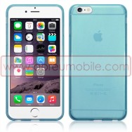 "Bolsa / Capa Silicone Gel Para APPLE IPHONE 6 / 6s PLUS - 5.5"" Azul Transparente"