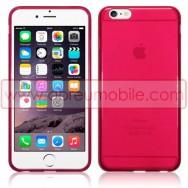 """Bolsa / Capa Silicone Gel Para APPLE IPHONE 6 PLUS / 6s PLUS - 5.5"""" Vermelha Transparente"""
