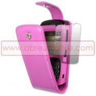 Bolsa / Capa Pele Sintetica Flip Cover Para BLACKBERRY 8520 / 9300 CURVE 3G ROSA