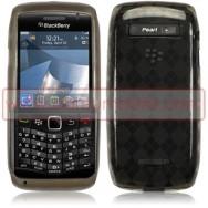 CAPA SILICONE GEL HEXAGONOS PARA BLACKBERRY 9105 / 9100 CURVE 3G CINZA TRANSPARENTE