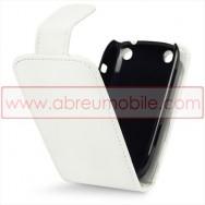 Bolsa / Capa Pele Sintetica Flip Cover Para BLACKBERRY CURVE 9220 / 9320 Branca