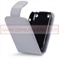 Bolsa / Capa Pele Sintetica Flip Cover Para BLACKBERRY CURVE 9220 / 9320 Cinza