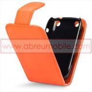 Bolsa / Capa Pele Sintetica Flip Cover Para BLACKBERRY CURVE 9220 / 9320 Laranja