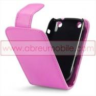 Bolsa / Capa Pele Sintetica Flip Cover Para BLACKBERRY CURVE 9220 / 9320 Rosa