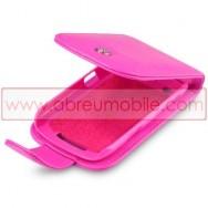 Bolsa / Capa Pele Sintetica Flip Cover Para BLACKBERRY CURVE 9350 / 9360 / 9370 Rosa