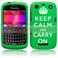 "CAPA SILICONE ESTAMPADA ""KEEP CALM"" PARA BLACKBERRY CURVE 9350 / 9360 / 9370 VERDE"