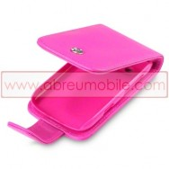 Bolsa / Capa Pele Sintetica Flip Cover Para BLACKBERRY BOLD 9790 Rosa