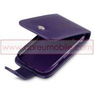 Bolsa / Capa Pele Sintetica Flip Cover Para BLACKBERRY BOLD 9790 Roxa