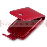 Bolsa / Capa Pele Sintetica Flip Cover Para BLACKBERRY BOLD 9790 Vermelha