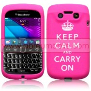 "CAPA SILICONE ESTAMPADA ""KEEP"" PARA BLACKBERRY BOLD 9790 ROSA"