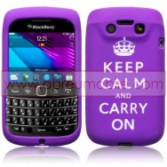 "CAPA SILICONE ESTAMPADA ""KEEP"" PARA BLACKBERRY BOLD 9790 ROXA"