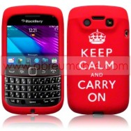 "CAPA SILICONE ESTAMPADA ""KEEP"" PARA BLACKBERRY BOLD 9790 VERMELHA"