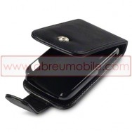 Bolsa / Capa Pele Sintetica Flip Cover Para HTC EXPLORER Preta