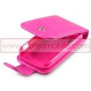 Bolsa / Capa Pele Sintetica Flip Cover Para HTC EXPLORER Rosa