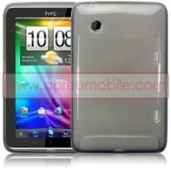 CAPA SILICONE GEL Tablet PARA HTC FLYER TABLET CINZA