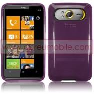 CAPA SILICONE GEL PARA HTC HD7 ROXA