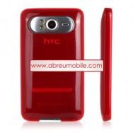 Capa Silicone Gel   Para HTC HD7 VERMELHO