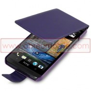 Bolsa / Capa Pele Sintetica Flip Cover Para HTC ONE (M7) Roxa