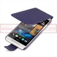 "Bolsa / Capa Flip Cover Pele Sintetica  ""Fina"" Para HTC ONE MINI Roxa"