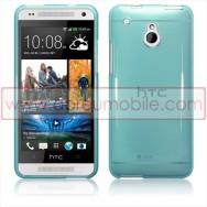 Capa Silicone Gel Para HTC ONE MINI Azul Transparente