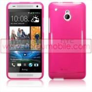 Capa Silicone Gel Para HTC ONE MINI Rosa Transparente
