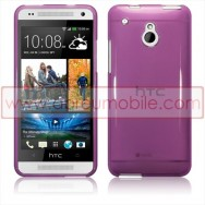 Capa Silicone Gel Para HTC ONE MINI Roxa Transparente