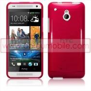 Capa Silicone Gel Para HTC ONE MINI Vermelha Transparente