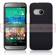 Capa Rigida Traseira Hibrida (Plastico C/Revestimento em Silicone) Para HTC ONE MINI 2 Preta