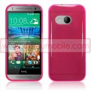 Capa Silicone Gel Para HTC ONE MINI 2 Rosa Transparente