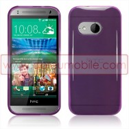 Capa Silicone Gel Para HTC ONE MINI 2 Roxa Transparente