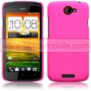 CAPA RIGIDA TRASEIRA HIBRIDA (PLASTICO C/REVESTIMENTO EM SILICONE) PARA HTC ONE S ROSA