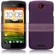 CAPA RIGIDA TRASEIRA HIBRIDA (PLASTICO C/REVESTIMENTO EM SILICONE) PARA HTC ONE S ROXA