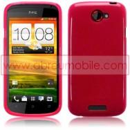 CAPA SILICONE GEL PARA HTC ONE S ROSA TRANSPARENTE