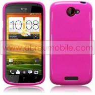 CAPA SILICONE GEL PARA HTC ONE S ROSA OPACA