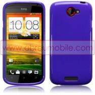 CAPA SILICONE GEL PARA HTC ONE S ROXA OPACA