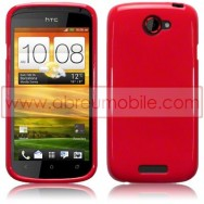 CAPA SILICONE GEL PARA HTC ONE S VERMELHA OPACA